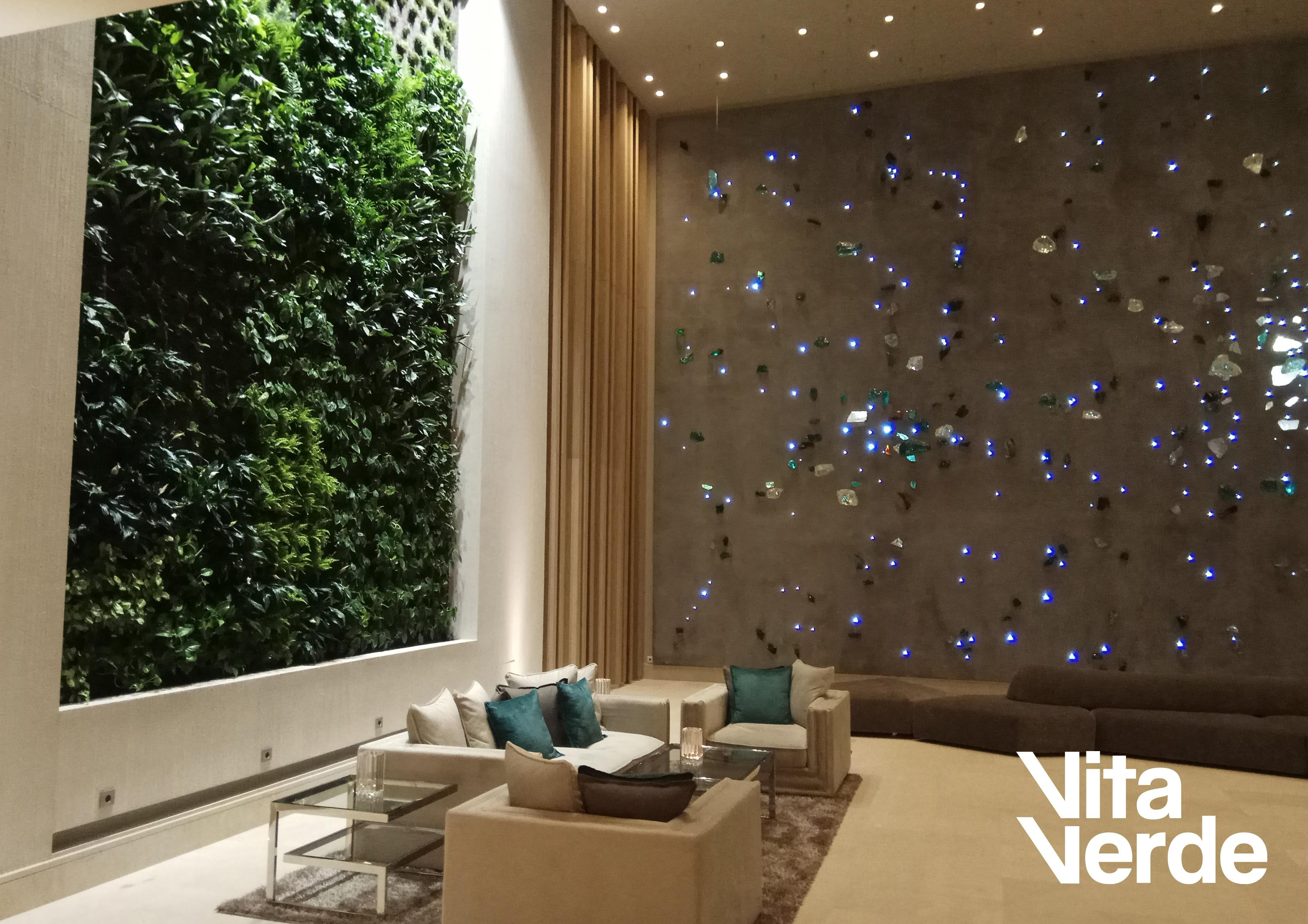 Hotel vertical garden