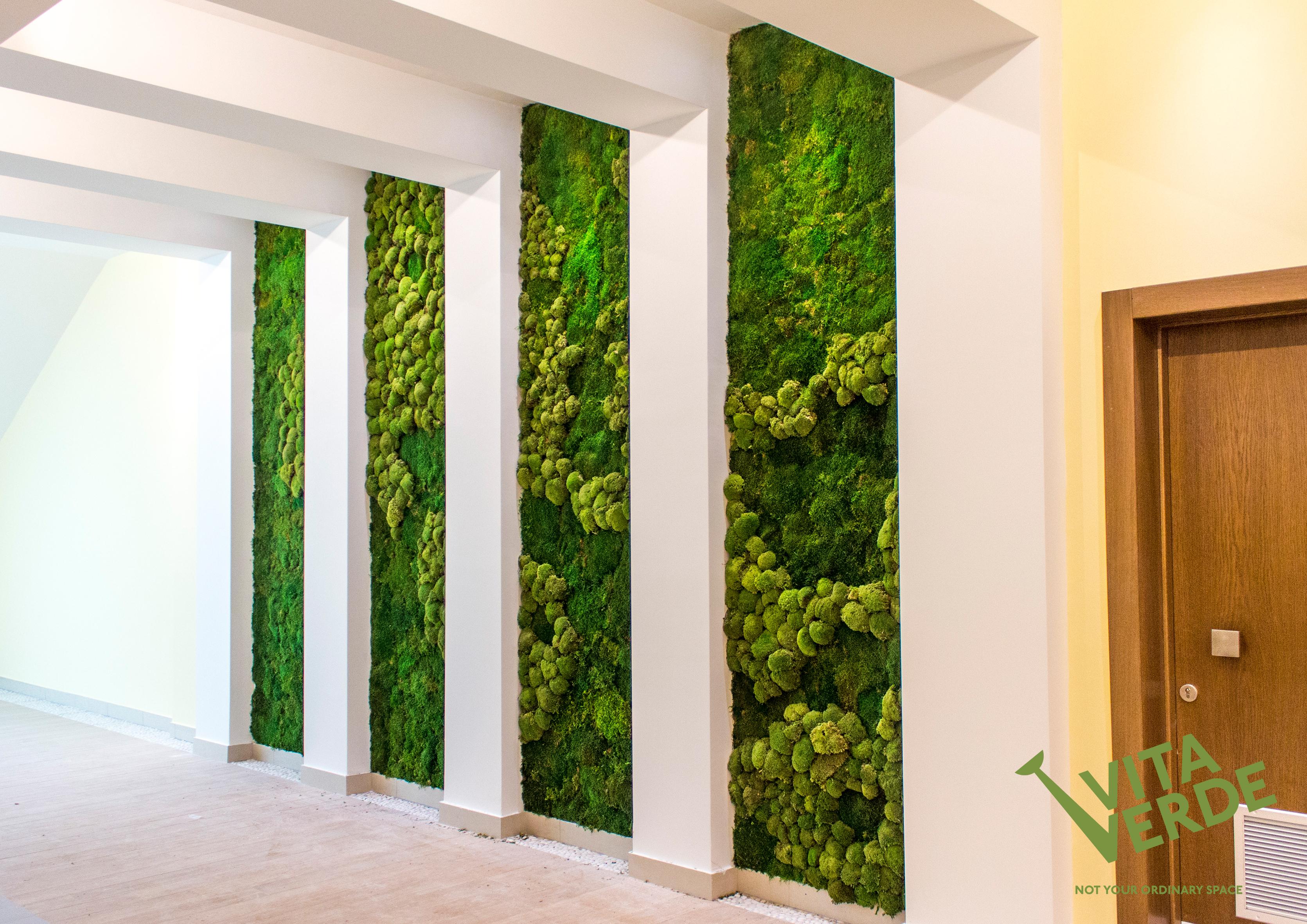 Moss art in a spa