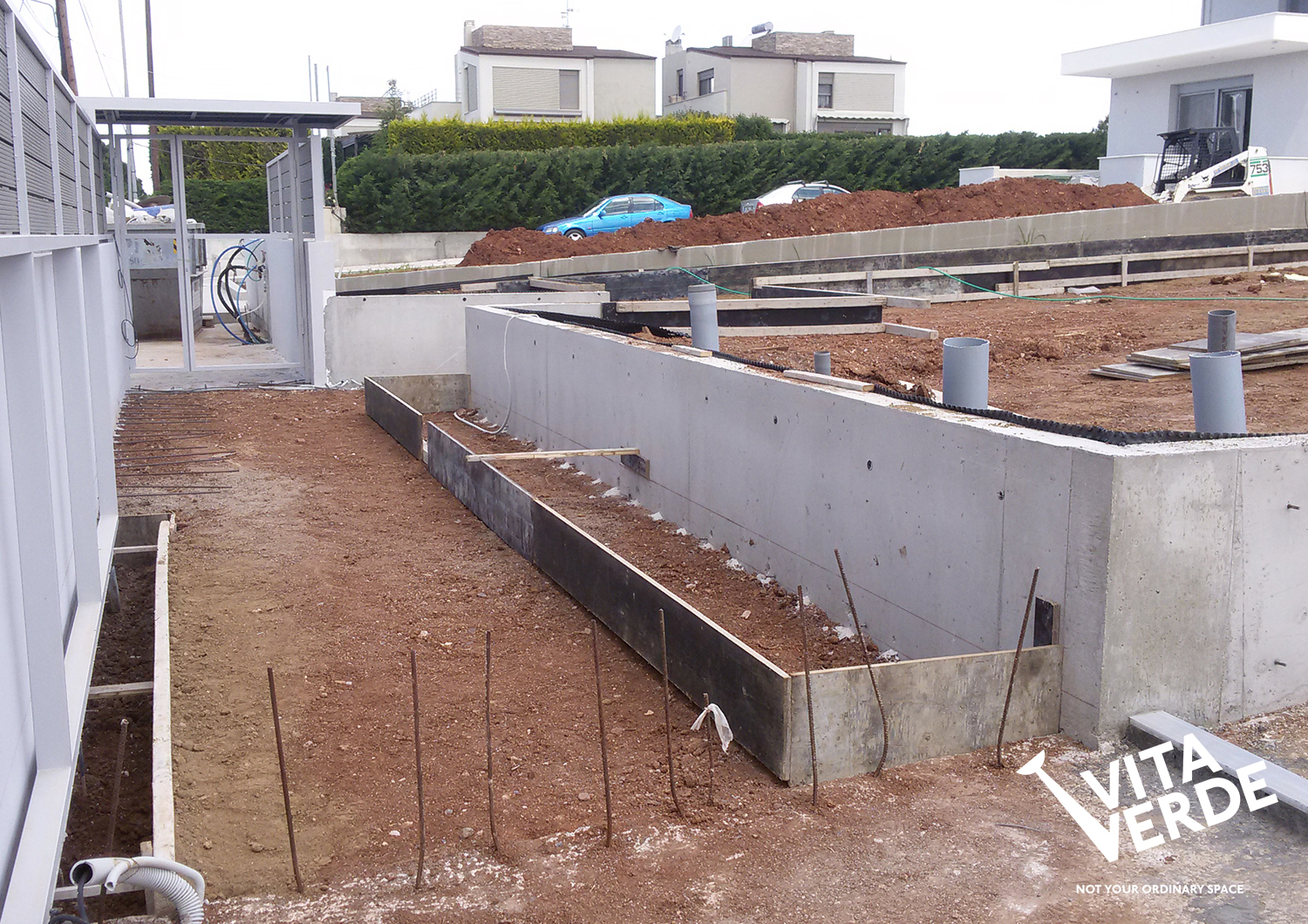 Construction phase of a new garden