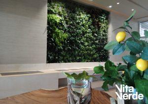 Vertical gardens at hotel
